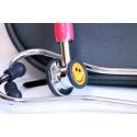 Stetoscop ERKA FINESSE 2, pentru copii, piesa de ascultare dubla cromata, membrane pe fiecare parte 32/20 mm,tubulatura dubla
