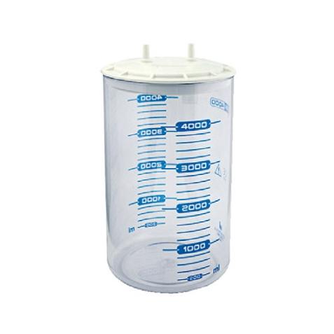 Recipient colectare tip MAK 4 l, autoclavabil, capac cu inchidere prin presiune