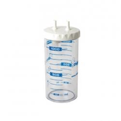 Recipient colectare tip MAK 1 l, autoclavabil, capac cu inchidere prin insurubare