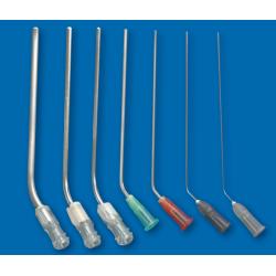 Tuburi de aspirare pentru o singură utilizare, transparente în unghi, conexiune Luer-Lock150 x 2,0 mm
